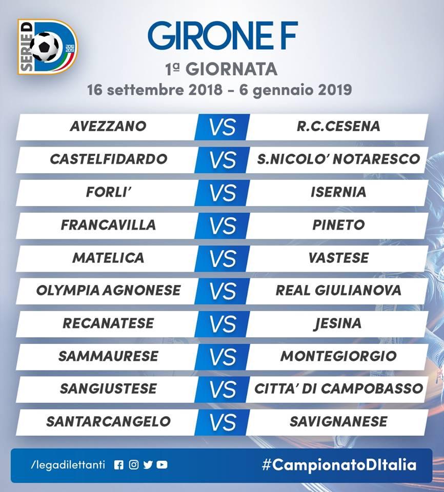 Cesena Calcio Calendario.Calendari Di Serie D L Avezzano Parte Col Botto Arriva Il