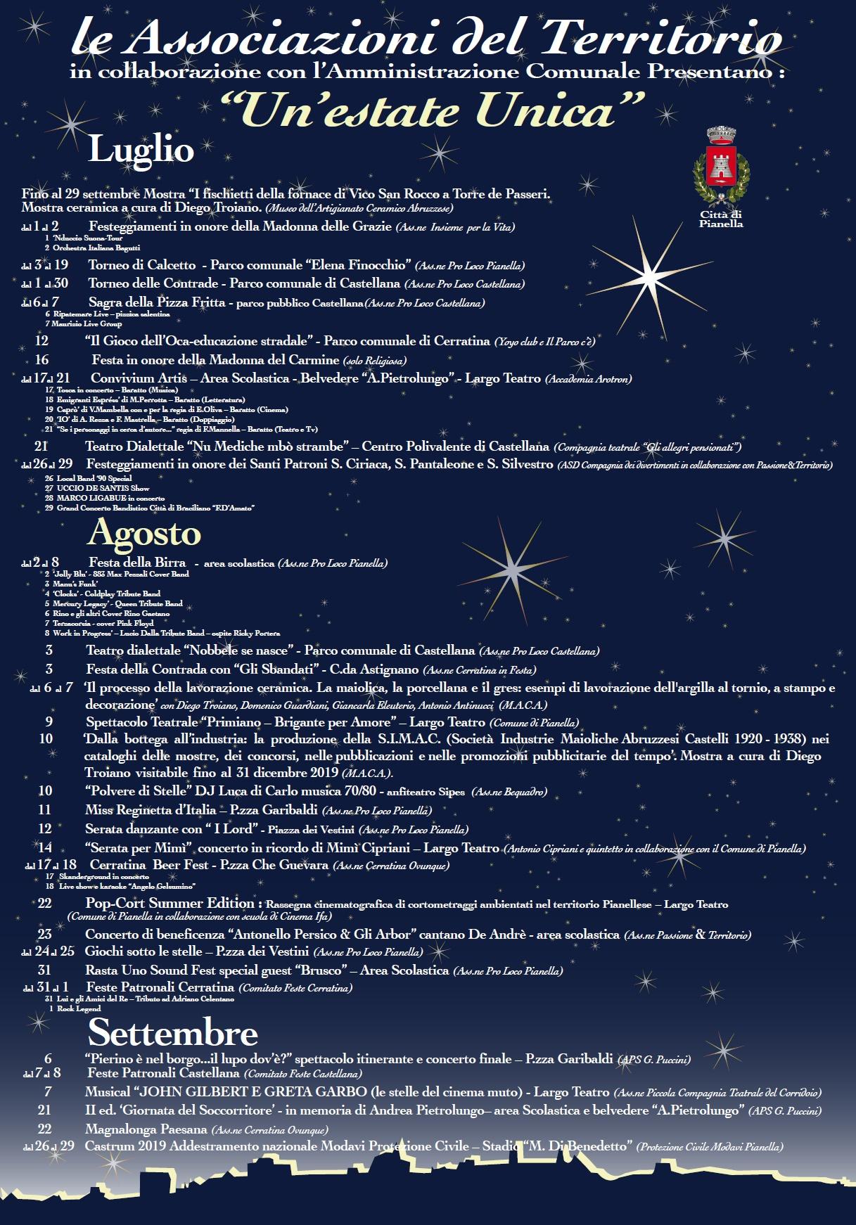 Calendario Promozione Abruzzo.Pianella Un Calendario Ricco Di Eventi Da Record Per L